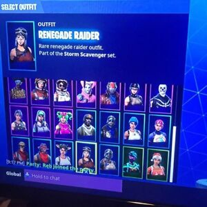 Renegade account with skull and nog ops