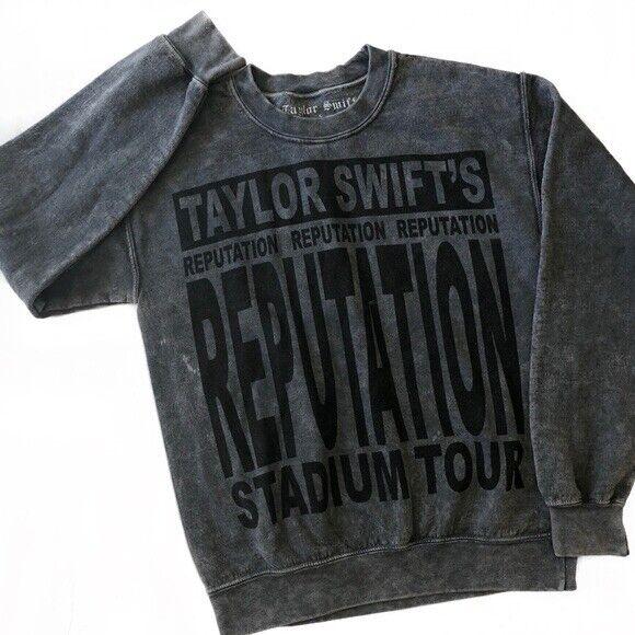 medium reputation stadium tour stonewashed pullover - taylor swift
