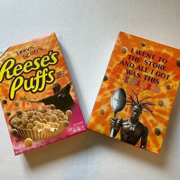 Travis Scott Reeses Puffs cereal limited edition box only