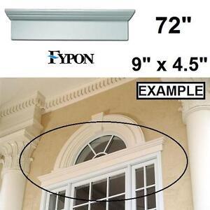"""NEW FYPON 72"""" WINDOW DOOR CROSSHEAD - 110514982 - 72"""" x 9"""" x 4.5"""" POLYURETHANE MOULDING TRIM WINDOWS DOORS TRIMS CROS..."""