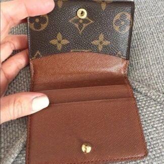 100% Authentic Louis Vuitton Monogram Mini Card Wallet Dust Bag