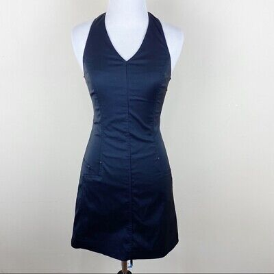 Versace Jeans Couture Vintage Little Black 90s Dress Halter Mini Club Sexy 0/2