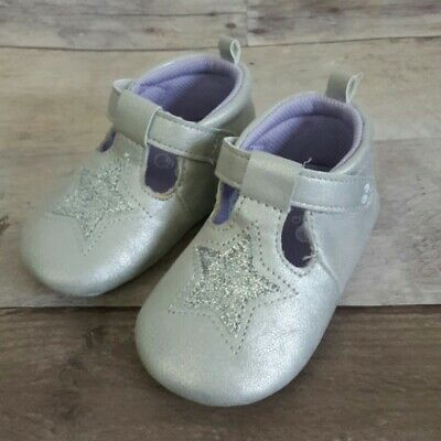 Surprize by Stride Rite Baby Girl 12-18 Months Pre-Walker Heidi Shoes Silver