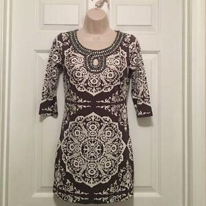 INC international concepts tunic dress,size L,BNWTS,gray/white