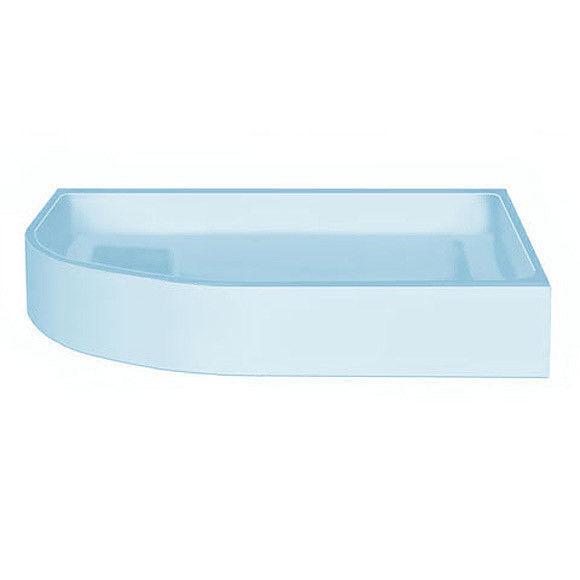 neu.haus Duschwanne 100x100cm reinweiß Duschtasse Viertelkreis extra flach Bad