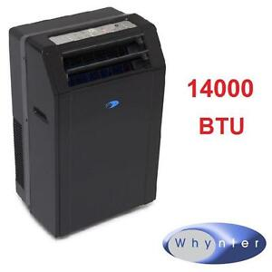 USED*WHYNTER MOBILE AIR CONDITIONER 14000 BTU REMOTE PORTABLE - COOLING FAN FANS DEHUMIDIFIER AC A/C CONDITIONERS
