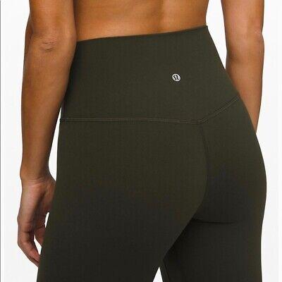 "Lululemon Align Pants High-Rise 28"" In Dark Olive Size 8 BNWOT"