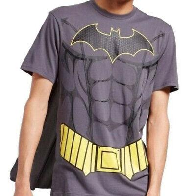 DC Comics Mens Batman T-Shirt with Cape Costume Size 2XLarge NWT