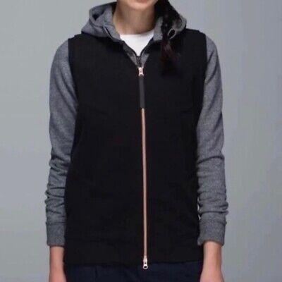 Lululemon Womens Departure Vest Black Sleeveless Full Zip Size 6