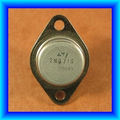 2n3716 Npn Power Transistor 10a Amp 80v Volt To-3 Highest Gain To3 Ive Seen New