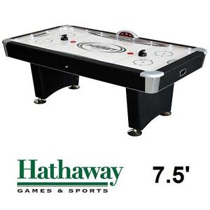 NEW* HATHAWAY 7.5' AIR HOCKEY TABLE - 108865796 - STRATOSPHERE DOCKING STATION LED LIGHTS - GAMES RECREATION TABLES G...