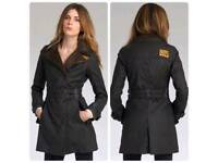 Ladies Safari wax mac Superdry jacket size M