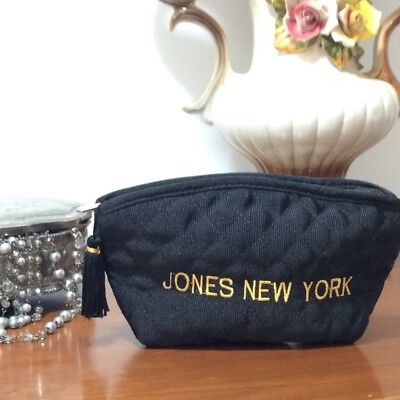 Vintage from the 80's Jones New York Cosmetic Purse FASHION CHIC Small