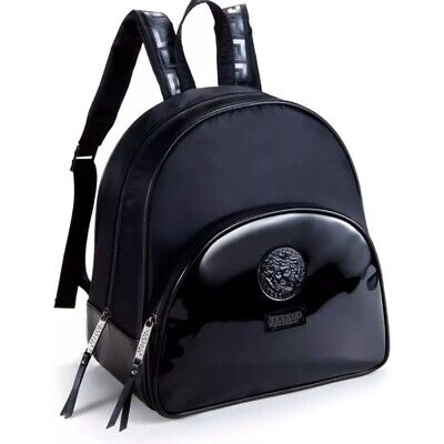 100% Genuine Versace Black Luxury Backpack Rucksack Madusa Head Designer Bag