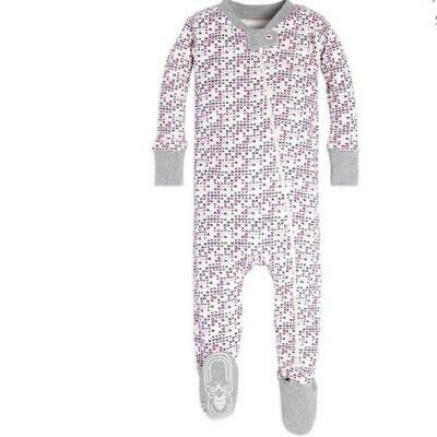 Burt's Bees Baby Organic Cross Stitch Footed Pajamas Size NB