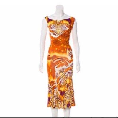 Just Cavalli Animal Print Dress UK 10