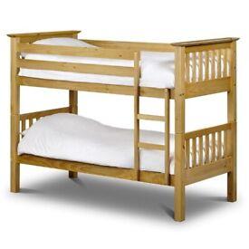 KiDs BunK Bed SinGle Wooden In Oak CoLor