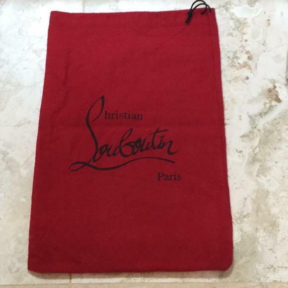 "Christian Louboutin Red Dust Bag 14"" x 9"""