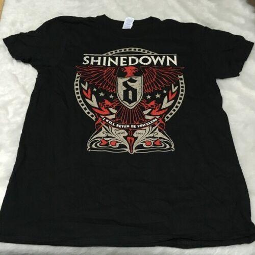 SHINEDOWN WORLD TOUR 2016 UNISEX Black Shirt LARGE NEW/NEVER WORN!