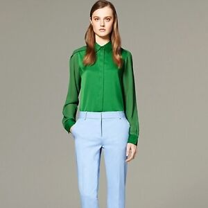 3.1 PHILLIP LIM x TARGET Kelly Green Chiffon BLOUSE Top, Sixe S London Ontario image 1