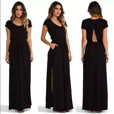 Cut Out Dress (Free People Beach dress black full length Andrina's Maxi Cut Out womens)