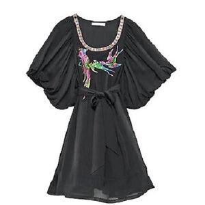 Original Matthew Williamson Kleid for H&M Gr. 34 XS reine Seide schwarz Tunika