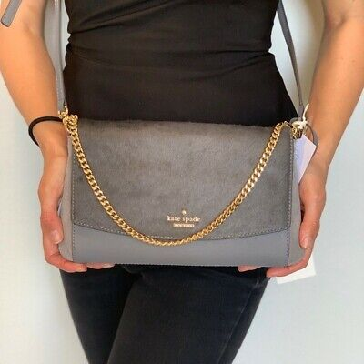 Kate Spade Greer Laurel Way HairCalf Cross Body Bag Brand New