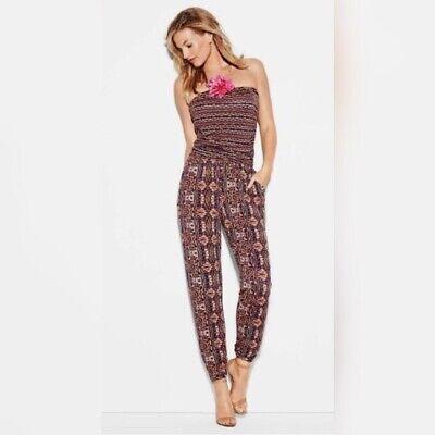 CAbi #325 Mosaic Jumpsuit Jersey Shirred Halter Print size L
