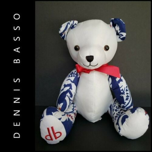 NEW Dennis Basso Home Stuffed Teddy Bear Red Blue Patriotic Americana #1