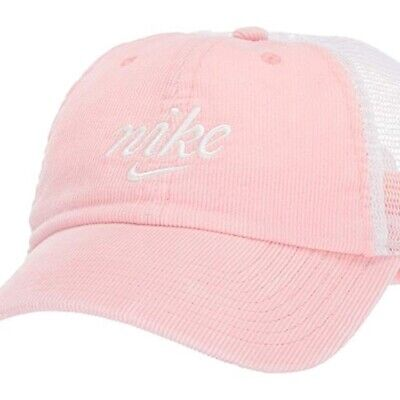 Nike Women's Air Heritage 86 Wash Cord Hat Cap Adjustable Pink CI0578-697 NWT