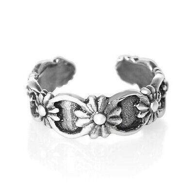 Flower Toe Ring Genuine Sterling Silver 925 Ship from USA Adjustable Jewelry ()