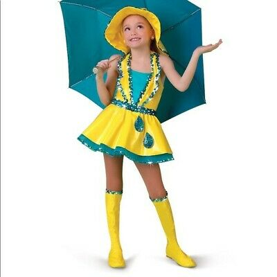Singing in the Rain halloween costumes kids girls. Size SC (6).