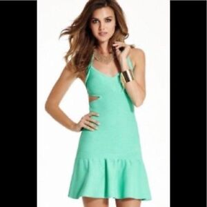 Guess by Marciano acqua bandge prom dress