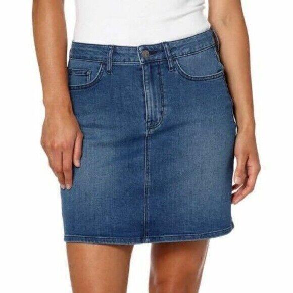 Calvin Klein Womens' Ladies' Denim Skirt – Moonlight Dusk 8 Clothing, Shoes & Accessories