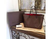 Louis Vuitton Neverfull Designer Womens Handbag Bag Pouch Purse Wallet Travel Bag