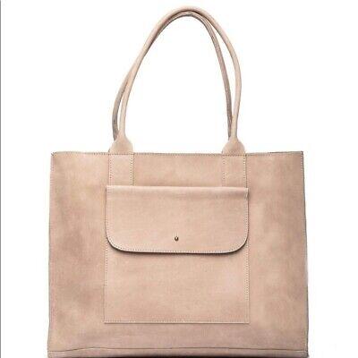EUC Able Bags Handbag Mare pocket Large Tote Tan Premium leather Bag Work laptop