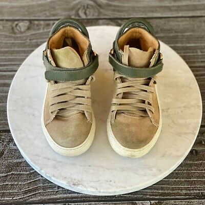 Kids BUSCEMI Camouflage 100MM High Top Sneakers Hype Luxury Italian Brand