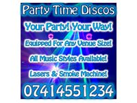 PARTY TIME DISCOS! DJ based in Belfast but covering all of N.Ireland to provide your BIG Night Out!