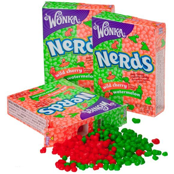 5 BOXES WILLY WONKA NERDS - 10 ASSORTED FLAVORS SUGAR CANDY