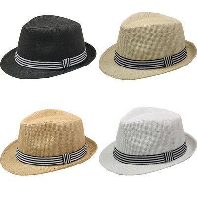 White Felt Hat - Fedora Hat BROWN BLACK WHITE  Men Wedding Dress Formal CAP WOMEN
