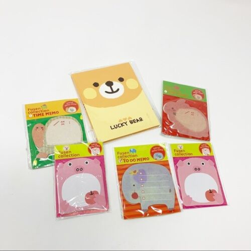 NIP Lot Of 6 Sets Cute Animal Sticky Notes