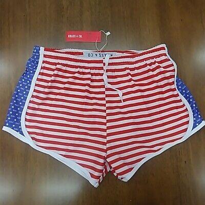 Kappa Kappa Gamma USA Athletic Shorts Krass & Co Red White Blue Sorority Small