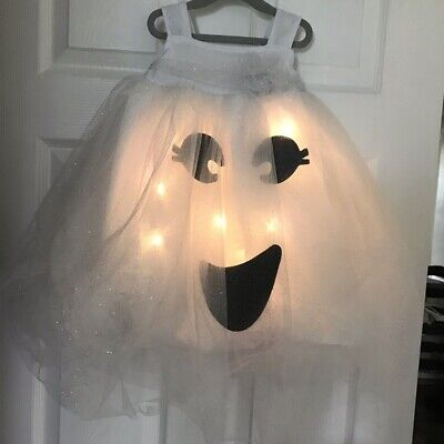 Pottery Barn Kids Light Up Ghost Tutu Light Up Halloween Costume 4 6 Years #7096