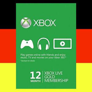 Xbox One 360 Live Gold 12 Monate Mitgliedschaft Karte 12 Month Card Code