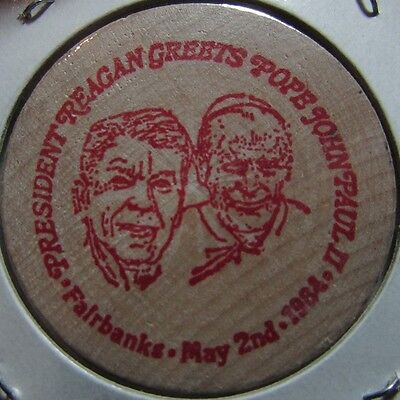 Vintage For Frivolity and ? Pope/Reagan Mobile, AL Wooden Nickel Token