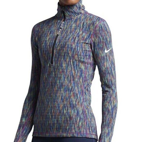 NIKE Hyperwarm 1/4 Zip Multicolor Pullover Jacket Size Medium Top
