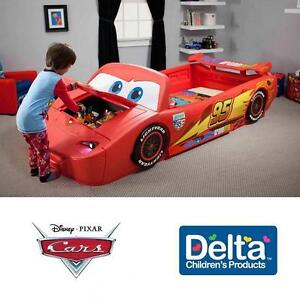 NEW DCP DISNEY CARS TOY BOX BED DELTA CHILDREN PRODUCTS TWIN TODDLER CONVERTIBLE BEDS BEDROOM FURNITURE BEDDING