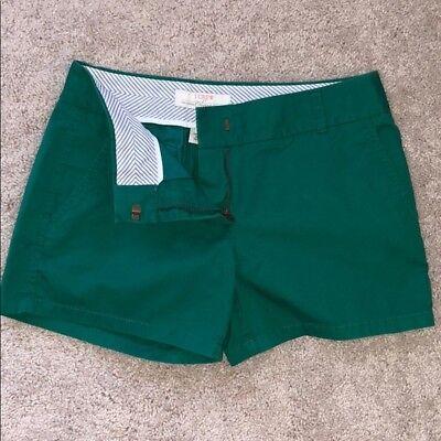 "J.Crew Factory 5"" Chino Shorts in Warm Emerald Green - NWT"