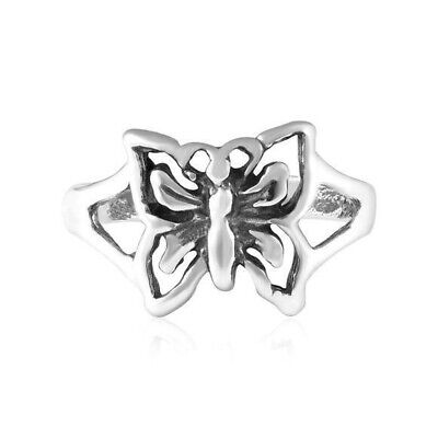 Butterfly Toe Ring Genuine Sterling Silver 925 Adjustable Jewelry 1.3 grams