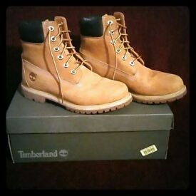 Lovely Kids Original Genuine Timberland Boots Tan Kids Size UK 12, Excellent Condition